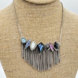Riverstone Fringe Necklace